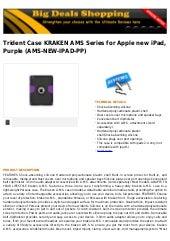 Trident case kraken ams series for apple new i pad, purple (ams new-ipad-pp)