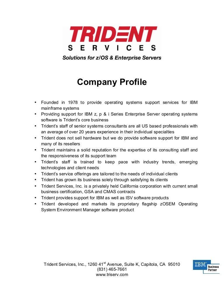 trident company profile