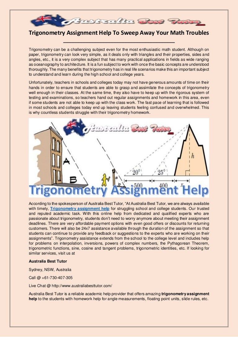 lovely math help trigonometry gallery worksheet mathematics  trigonometry assignment help to sweep away your math troubles