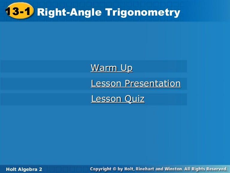 Trig right triangle trig