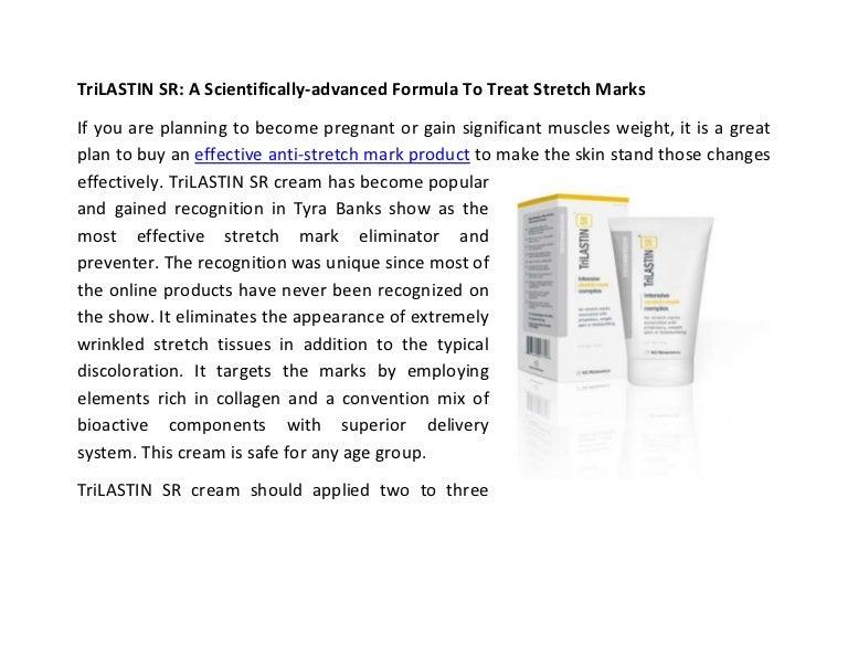 Trilastin Sr A Scientifically Advanced Formula To Treat Stretch Marks