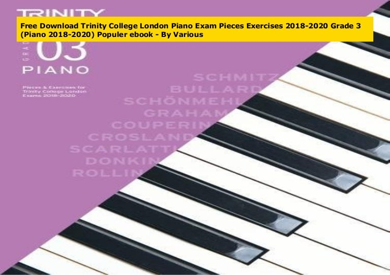 Free Download Trinity College London Piano Exam Pieces Exercises 20