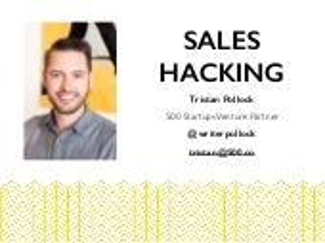 Sales Hacking at Taiwan Startup Stadium by Tristan Pollock