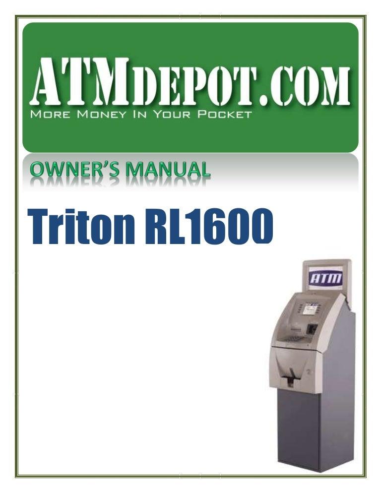 Triton rl1600 atm owners manual publicscrutiny Choice Image