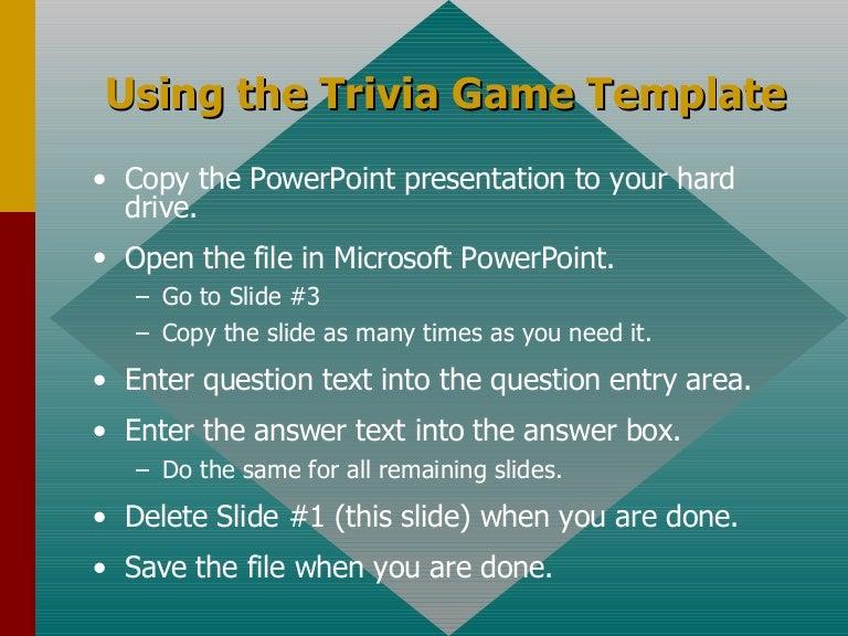 trivia template, Modern powerpoint