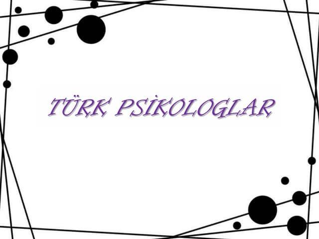 Türkiye'de psikologlar