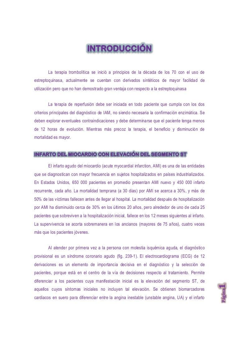 TROMBOLISIS CUIDADOS DE ENFERMERIA - ENFERMERIA DE URGENCIAS EMERGENC…