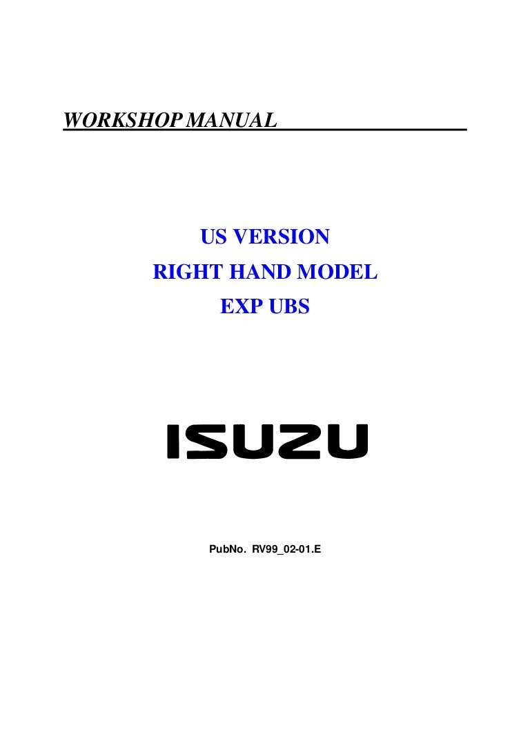 Manual De Isuzu Trooper