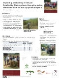 Improving productivity in Kenyan smallholder dairy systems through selective, intensive education and supported adoption