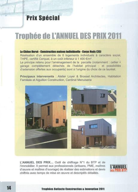 Trophée de l'Annuel des Prix 2011