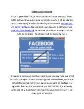 facebook pirater facebook mot de passe hack v. Black Bedroom Furniture Sets. Home Design Ideas