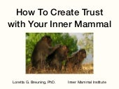 Trust: Build It with Your Inner Mammal