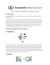 SEO and Website Development Company in India