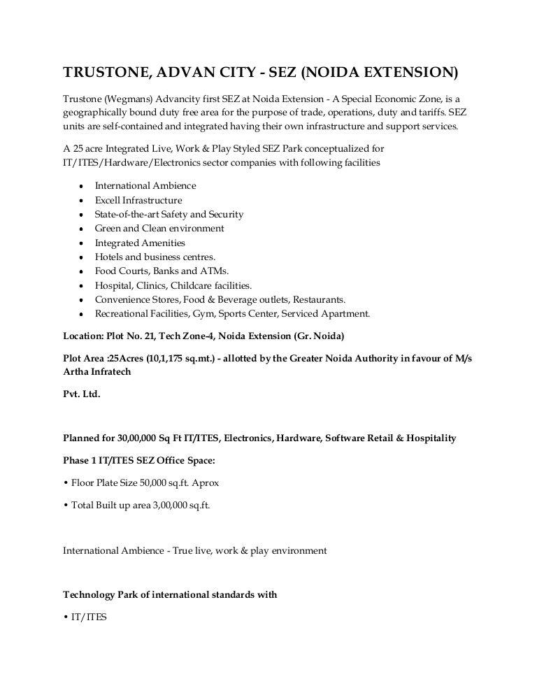 Trustone advan city noida extension 9811 822 426