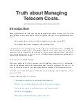 Truth About Managing Telecom Costs