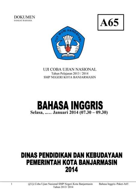 Ujian Nasional di SPK ACS Jakarta