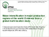 Maize intensification in major production regions of the world