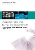 Metadata: Increasing Value in Digital Content Competition Flyer