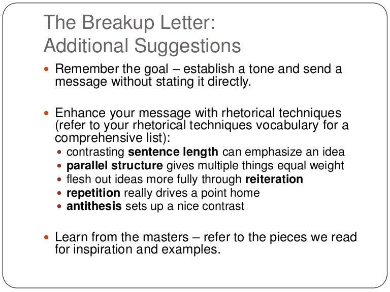 Breakup Letter