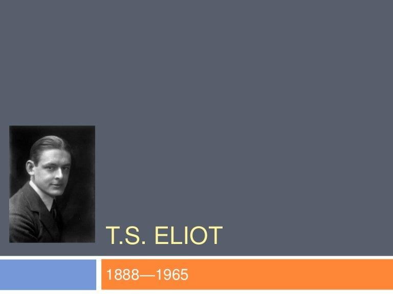 ts eliot background