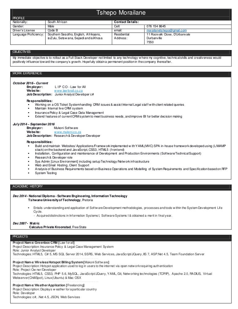 Junior Trader Resume. Sample Resume Skills Based Resume - Http