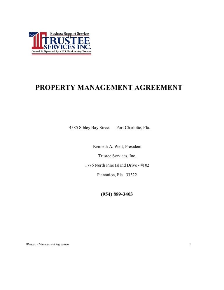 Tsi Residential Propertyl Management Agreement
