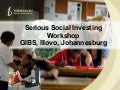 Developing CSI strategy in business - Tshikululu Social Investments workshop 2010