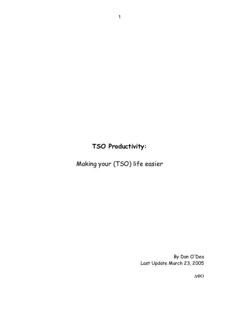 TSO Productivity