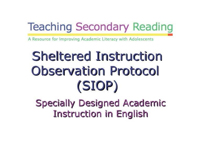 Tsr Sheltered Instruction Observation Protocol