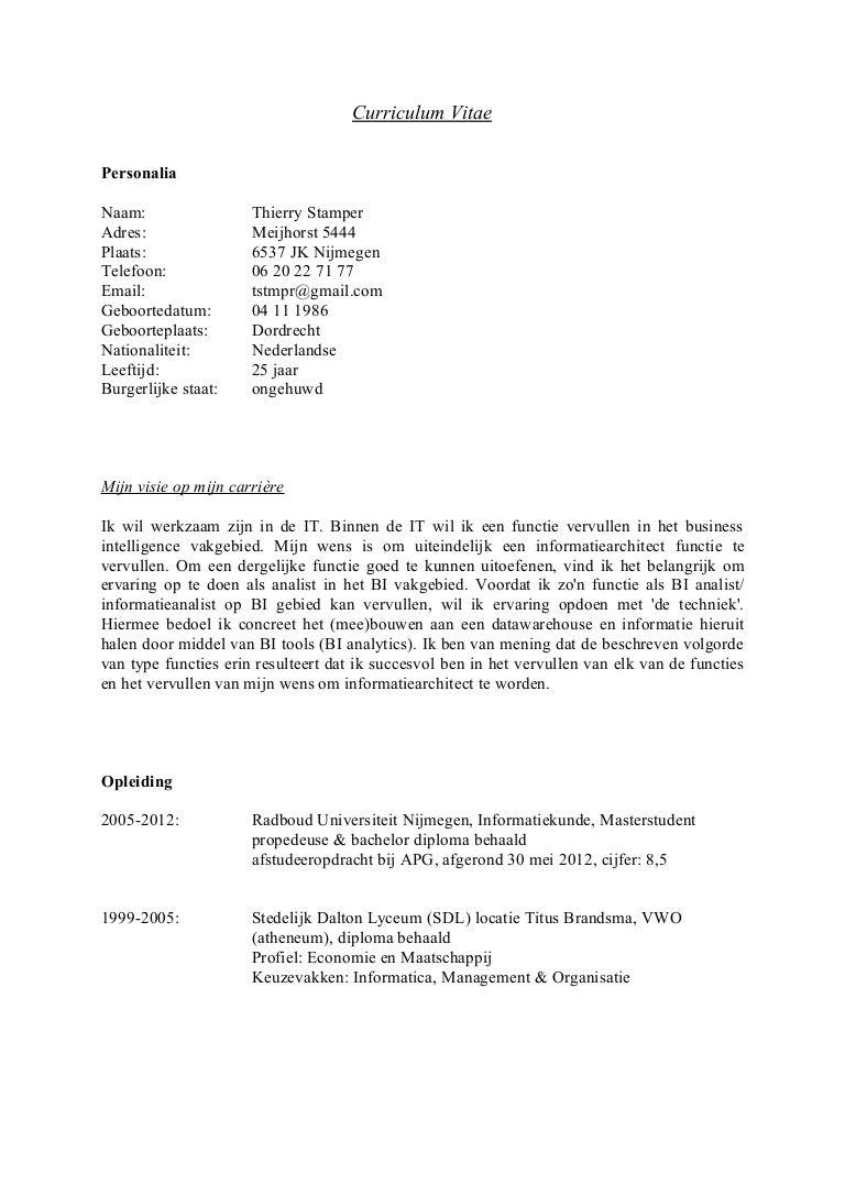 open sollicitatiebrief productiemedewerker T Stamper Curriculum Vitae 03082012 open sollicitatiebrief productiemedewerker