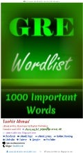 Gre word list 1000 important words