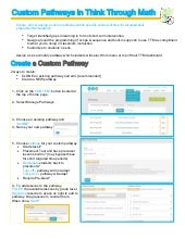 Think Through Math Custom Pathway How-To Guide