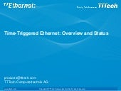 Time Triggered Ethernet - Overview