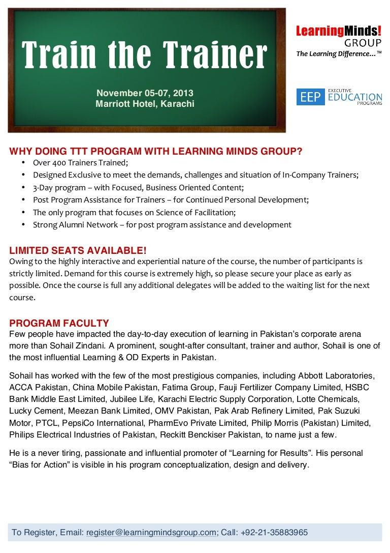 Nov Workshop By LMG Train The Trainer [Nov 5 6 & 7 2013 KHI]