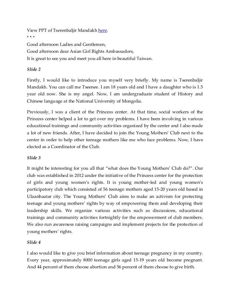 Presentation Script of Tserenbaljir Mandakh