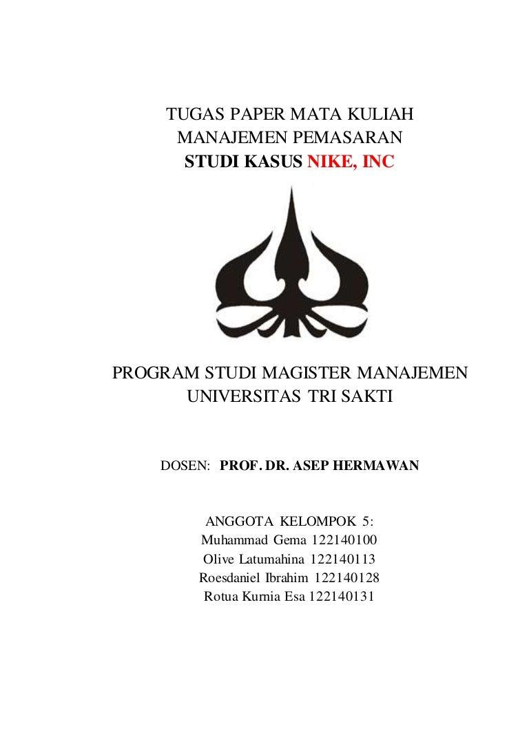 Tugas Paper Manajemen Pemasaran   Studi Kasus Nike 97ec496d16