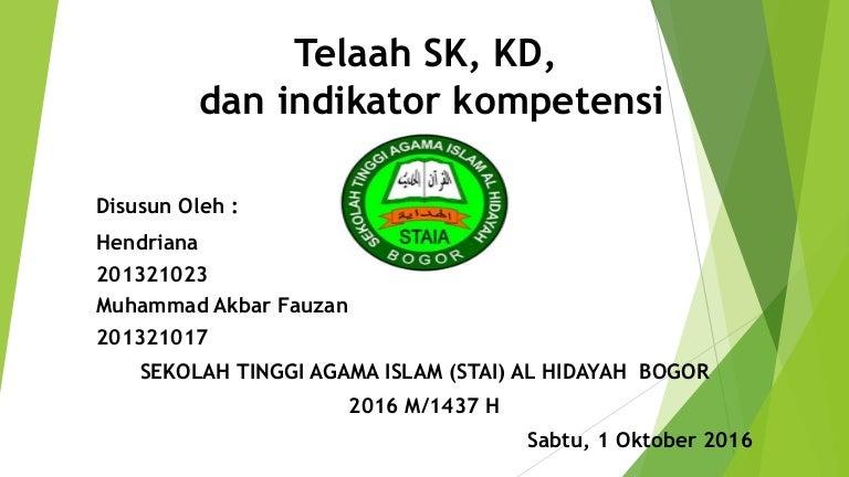 Kd Dan Indikator Relasi Fungsi