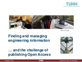 Finding and managing engineering information … and the challenge of publishing Open Access