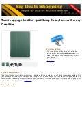 Tumi luggage leather ipad snap case, hunter green, one size