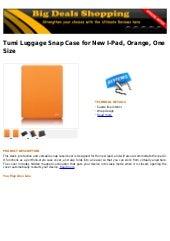 Tumi luggage snap case for new i pad, orange, one size
