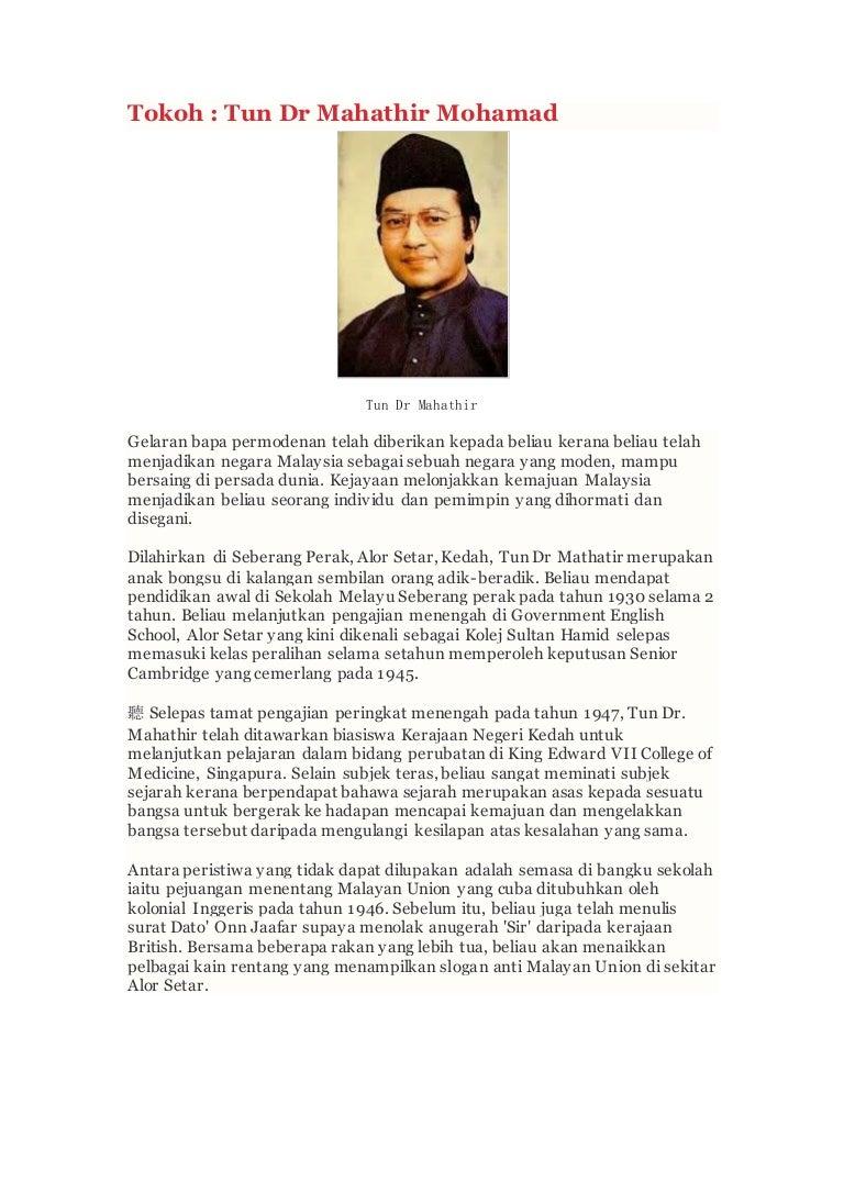 Tokoh Tun Dr Mahathir Mohamad