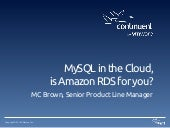 MySQL in the Cloud, is Amazon RDS for you?