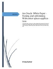 Tuning and optimizing webcenter spaces application white paper