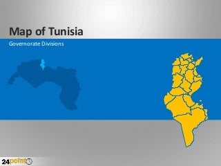 Tunisia Map - Fully Editable PowerPoint Slides