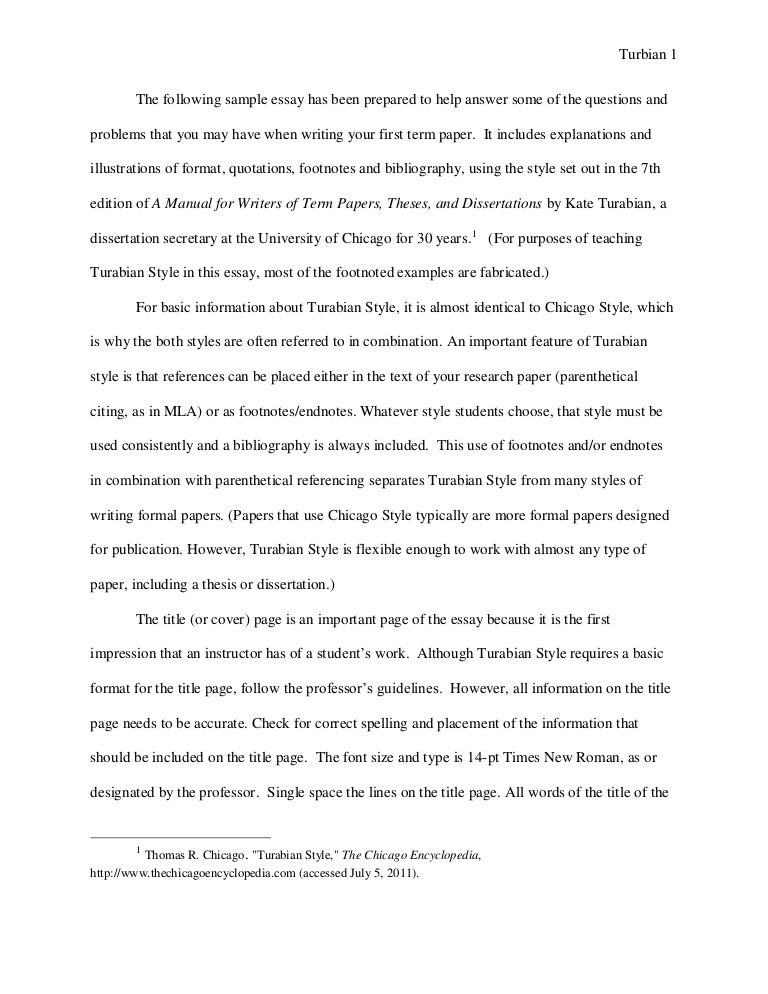 turabian example paper footnotes sample paper austin peay stat