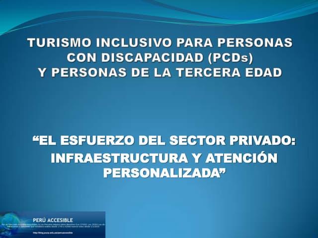 Turismo inclusivo para personas con discapacidad (PCDs)