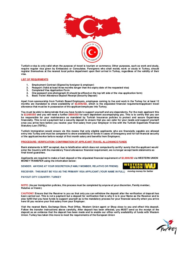 turkish immigration requirements