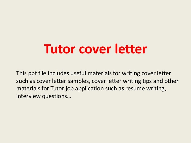 Tutorcoverletterphpappthumbnailjpgcb - Writing tutor cover letter