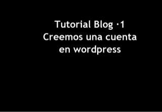 Tutorial Blog En WordPress 1