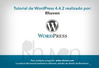 Curso wordpress 4.4.2 gratis—Tutorial wordpress!!